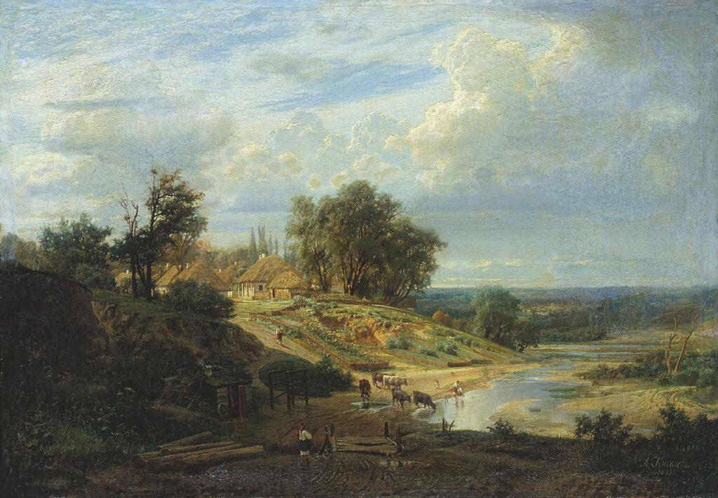 Вид в окрестностях Харькова. 1875, Киселев А.