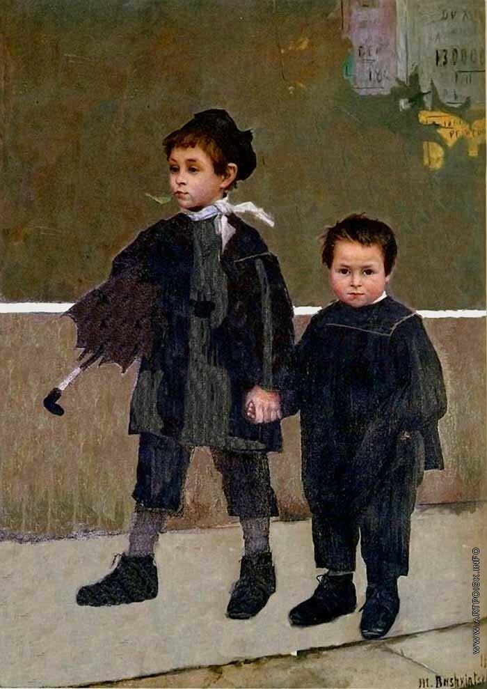 """Башкирцева М., """"Жан и Жак"""", 1883"""