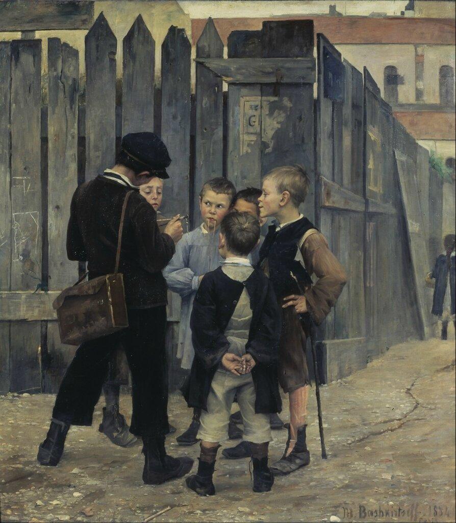 Башкирцева М. Совещание (Сходка/Митинг). 1884