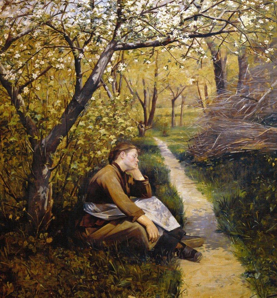 """М. Башкирцева, """"Весна. (Апрель)"""" 1884"""