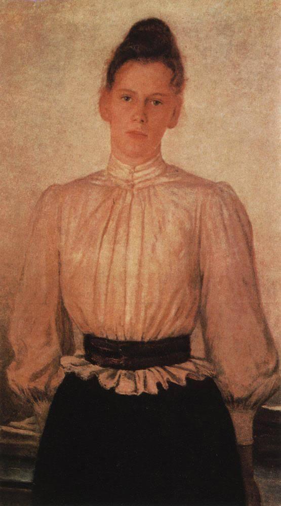Ге Н. Портрет М.Л.Толстой, дочери писателя. 1891