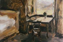 Якунчикова-Вебер М. В., Темная комната с окном, открытым на Валисские горы