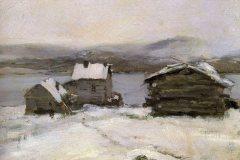 Коровин К. А., Зима в Лапландии.