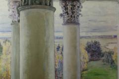 Якунчикова-Вебер М. В., Введенское. Колоннада и парк из окна,