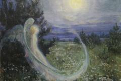 Якунчикова-Вебер М. В., Восход луны с ангелом
