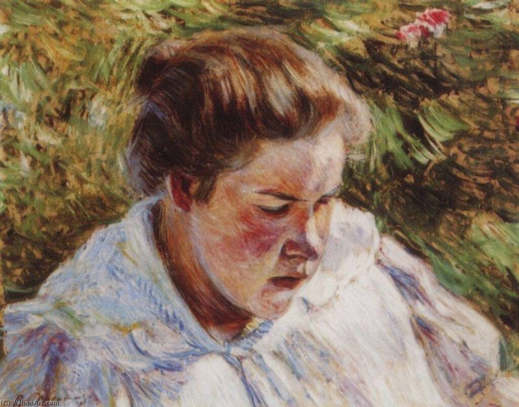 Борисов-Мусатов В. Э., Девушка освещенная солнцем. Этюд. 1897