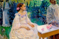 Борисов-Мусатов В. Э., Автопортрет с сестрой