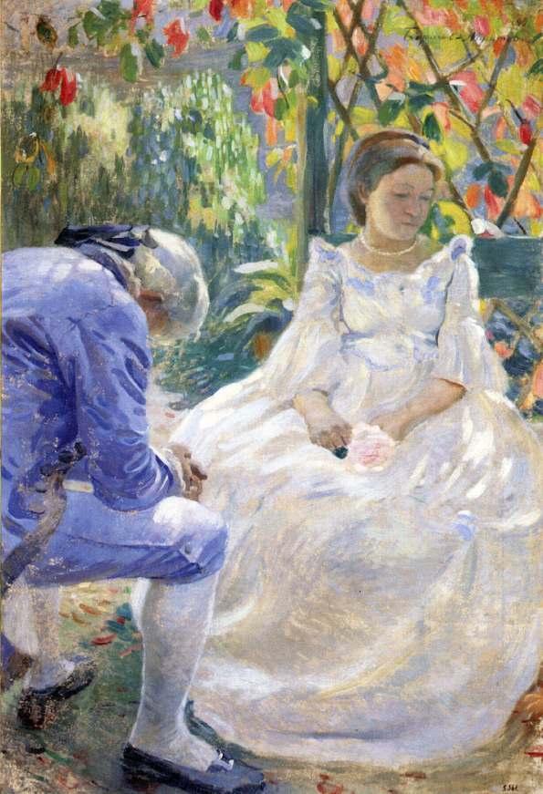 Борисов-Мусатов В., осенний мотив. 1899