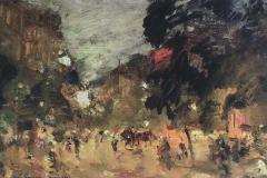 Коровин К. А,, Парижский бульвар.