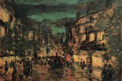 Коровин К. А., Ночная улица. Париж.