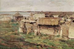 Коровин К. А. .Вид поселка. Кемь