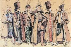 Коровин К. А., Князь Голицын и бояре.