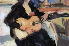 Коровин К. А,, Дама с гитарой