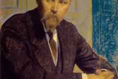 Борис Кустодиев. Портрет Н.К. Рериха.