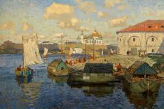 Горбатов К. И., «Старый Новгород. Баржи», .