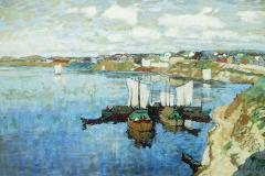 Горбатов К. И., «На реке Великой. Псков»,