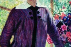 Борис Кустодиев. Портрет Ю.Е. Кустодиевой.