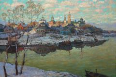 Горбатов К. И., «Ранняя весна. Город на реке»,