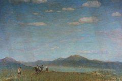 Зарубин В. И., Пейзаж с рекой и рыбаками