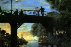 Борис Кустодиев. Мост. Астрахань.