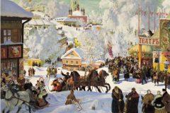 Борис Кустодиев. Масленица.