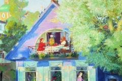 Борис Кустодиев. Голубой домик.