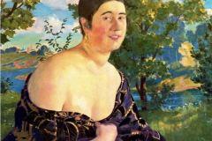 Борис Кустодиев. Портрет О.И. Шимановской
