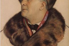 Борис Кустодиев. Портрет Ф.И. Шаляпина..