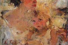 Фешин Николай Иванович. Миссис Фешина с дочерью.