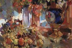 Коровин К. А., Натюрморт с синей вазой