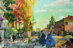 Борис Кустодиев. Осеннее гулянье.