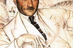 Борис Кустодиев. Портрет Евгения Замятина
