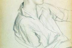 Борис Кустодиев. Портрет композитора Д.Д.Шостаковича в юности.