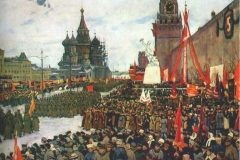 Константин Юон. Парад Красной армии.
