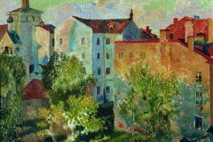 Борис Кустодиев. Вид из окна.