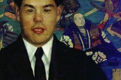 Борис Кустодиев. Портрет Кумано-Сан.