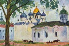 Кончаловский П., Новгород. Площадь Софийского собора.