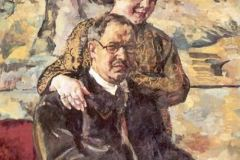 Кончаловский П., Автопортрет с женой.