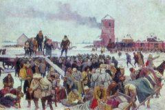 Константин Юон. Проводы рабочего отряда на фронт