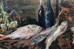 Коровин К. А. Натюрморт с рыбами.