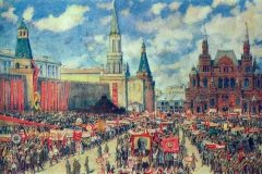 Константин Юон. Первомайская демонстрация на Красной площади в 1929 году.