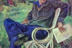 Петр Кончаловский. Портрет композитора Сергея Сергеевича Прокофьева.