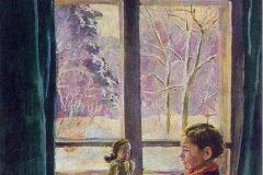 Петр Кончаловский. Катенька у окна.