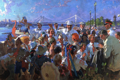 Сварог В. И. В. Сталин и члены Политбюро среди детей в Центральном парке культуры и отдыха имени М. Горького