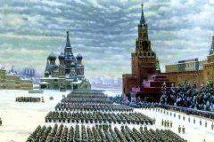 Константин Юон. Парад на Красной площади 7 ноября 1941 года