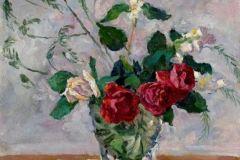 Петр Кончаловский. Натюрморт с розами, жасмином и аспарагусом