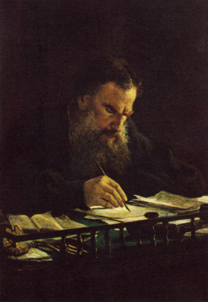 Портрет писателя Льва Николаевича Толстого,картина Ге