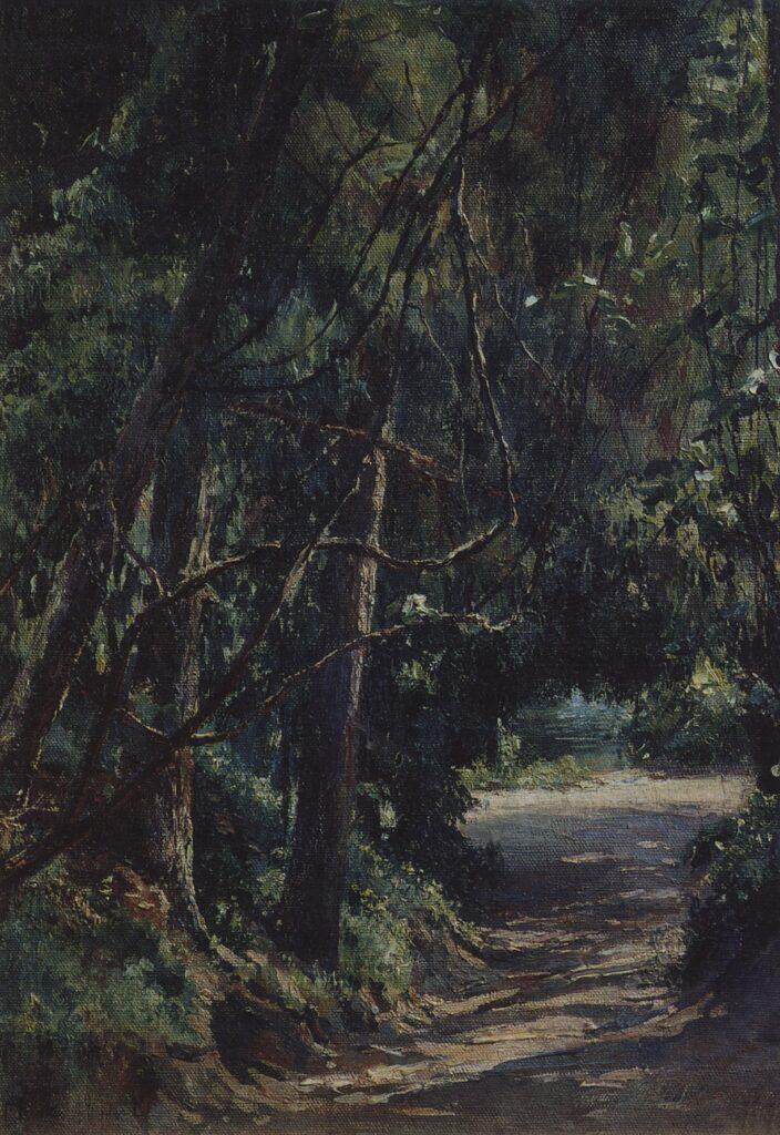Картина Ге, Аллея в старом парке,