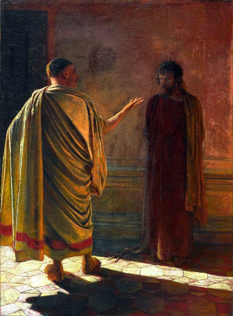 Что есть истина? Христос и Пилат, Ге.