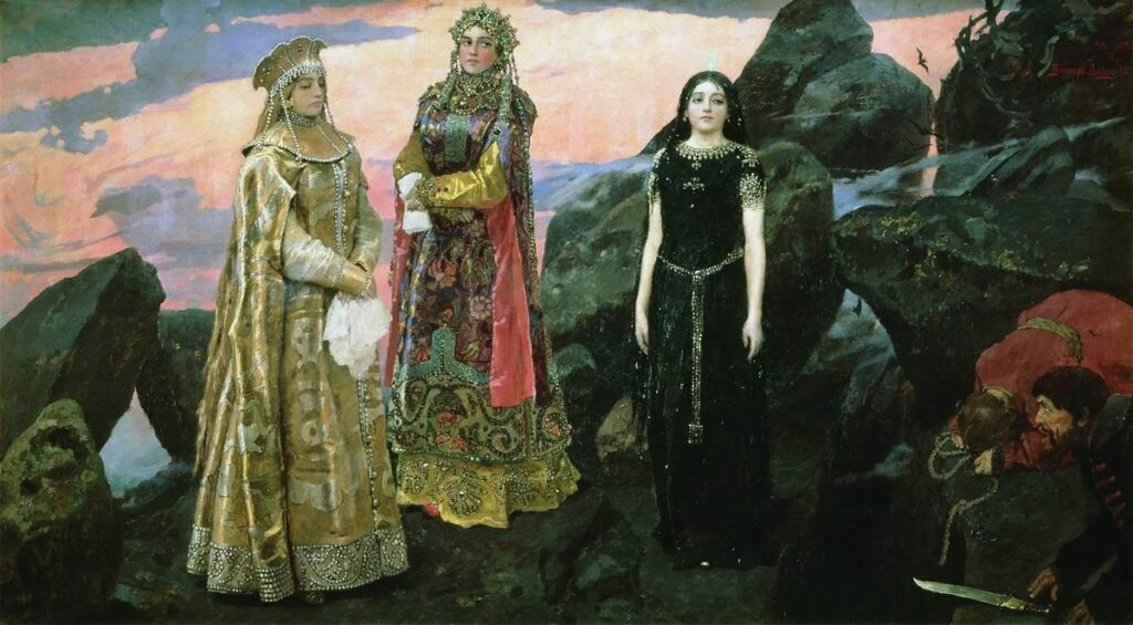 Три царевны, Васнецов